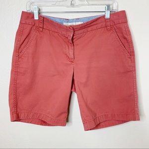 J. Crew Weathered Classic Twill Chino Orange Short